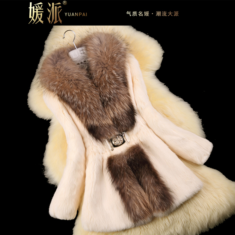 Autumn-Ladies-Natural-Rabbit-Fur-Coat-Jacket-Raccoon-Fur-Collar-Winter-Women-Fur-Trench-Outerwear-Coats (3)