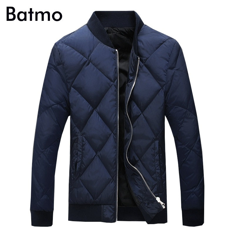 Batmo 2017 new arrival winter high quality 95% white duck down casual blue jacket men,winter mens coat plus-size M-5XL,Y17828