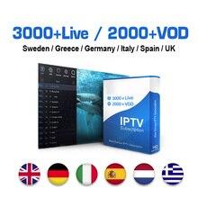 Europe IPTV Subscription Sweden Spain IP TV UK Germany Italy IPTV M3U Turkey Arabic Greece IPTV Code for Android/Smart tv/Mag цена 2017