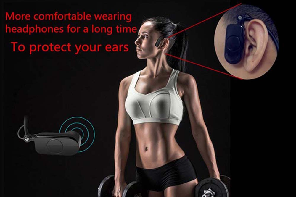 OKCSC Bone Conduction Waterproof MP3 8G Player Sport Headphone Protect Eardrum for Summer Swimming