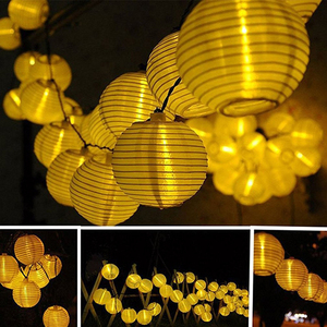 Image 5 - 30LEDs Solar Fairy Lights Outdoor Solar Lights Garden Lights Lantern Waterproof Garden Holiday Wedding Decoration Lighting