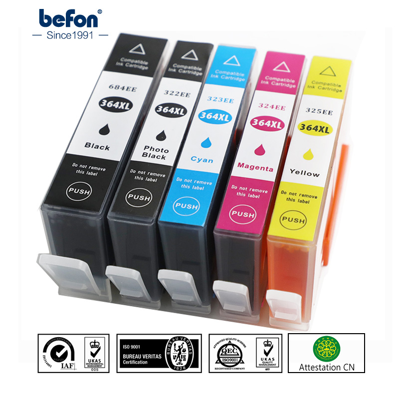 Befon 364 XL Compatible Cartridge Replacement For HP 364 HP364 Ink Cartridge Deskjet 3070A 5510 6510 B209a C510a C309a Printer