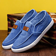New Male Shoes Adult Men Casual Shoes Denim Men Shoes Canvas Casual Sneaker Men Espadrilles Men's Loafers True Sneakers Footwear(China)