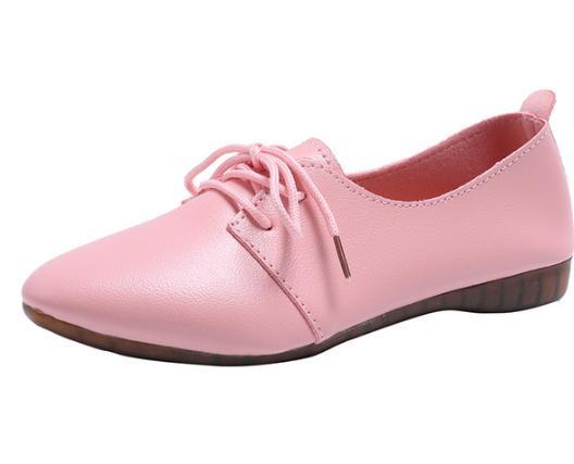 Mode Appartements Femmes Pointu Arrivée rouge Beige Automne Peu Printemps marron Chaussures Femmes Bout Profonde rose q50A0d