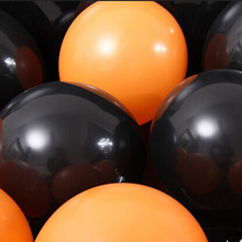 Halloween balloons 100pcs/lot 10 inch thick 2.2 g orange black color Latex balloon light special activities decorative