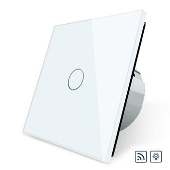 Interruptor estándar de la UE de Livolo, interruptor de luz de pared con regulador remoto y regulador de voltaje AC 220 ~ 250V