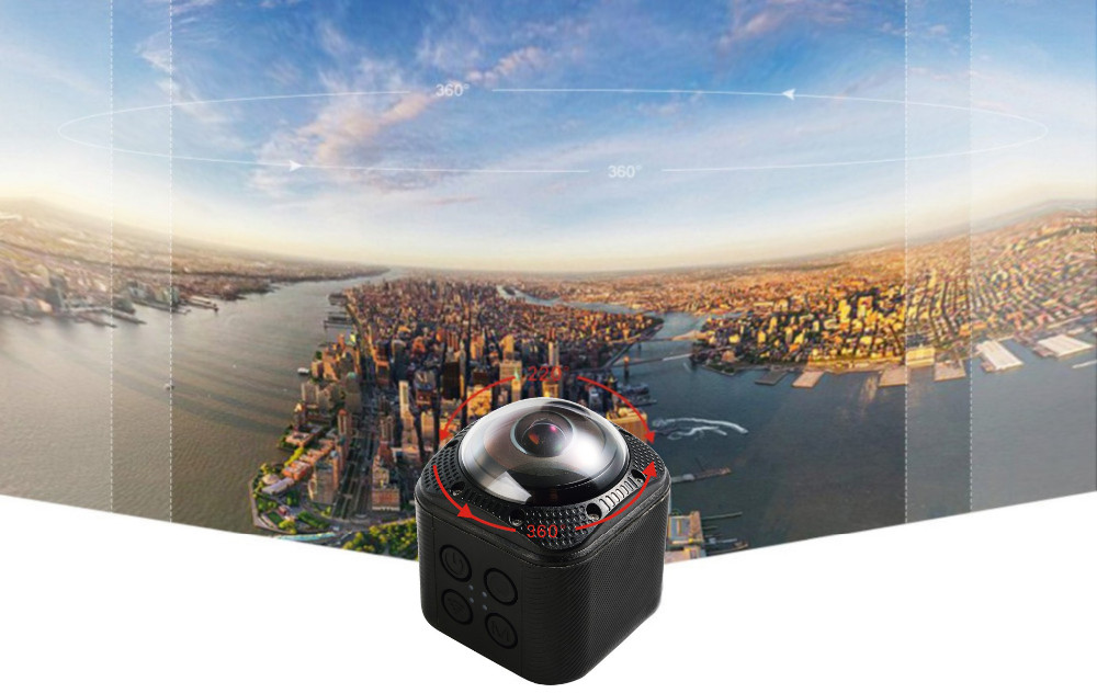 SOOCOO Cube360F 1080P Full HD 360 Degree Panorama Camera Wifi  (2)