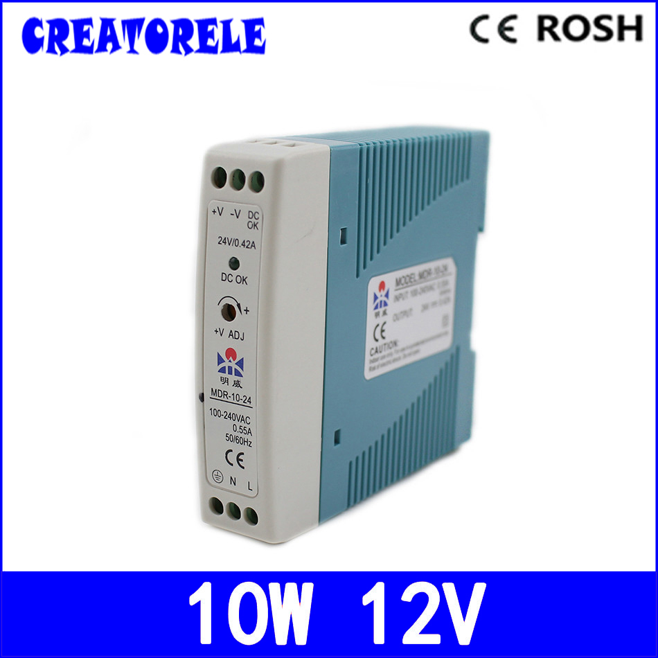 ac to dc Mdr-10-12 singIe output Din RaiI 10w 0.84a 12v mini Size driver Ied driver source switching power suppIy voIt ac to dc ce safe pkage 800w scn 800 12 watts quaiity from china ftory ied driver source switching power suppiy voit