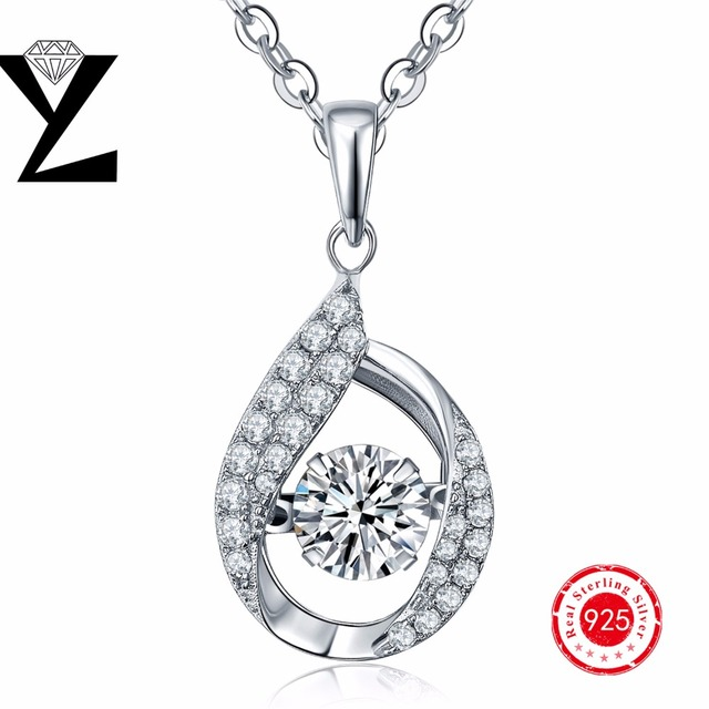 925 Sterling Silver Rhinestone Crystal Pendants Jewelry Making Necklaces for Women Fashion Dancing Sterling-Silver-Jewelry
