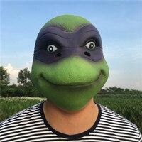 アオウミガメラテックスマスククールカメヘッドマスク用男ハロウィンコスプレ衣装プロップ通気性祭りパーティー用品新しい!