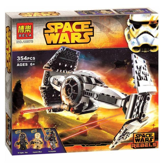 354Pcs Star Wars The Force Awakens TIE Advanced Prototype Building Blocks Toys For Children Star Wars Tie Starfighter 10373