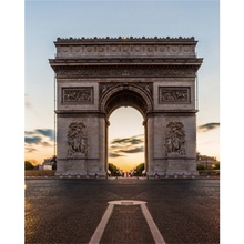 Laeacco Canvas Calligraphy Painting Arc de Triomphe Paris Posters and Prints Wall Artwork Pictures Living Room Home Decoration
