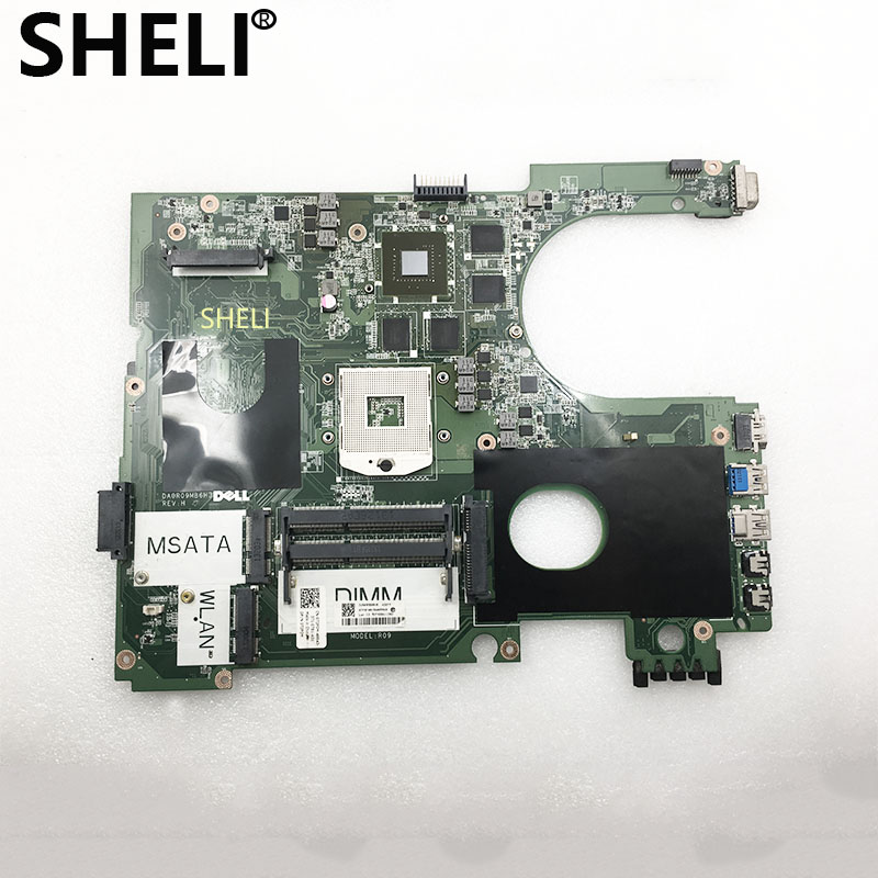 SHELI For DELL 17R N7720 7720 Motherboard 2D 72P0M CN-072P0M HM57 2D