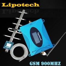 Original LCD Display GSM 900 mhz Signalverstärker GSM 900 65dB Zelle Booster Zellulären Signalverstärker GSM Verstärker + Yagi antenne