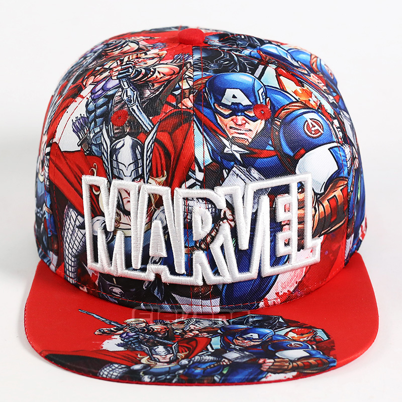 Marvel Avengers Print   Baseball   Snapback   Cap   Bboy Hip-hop Hats For Men Boy