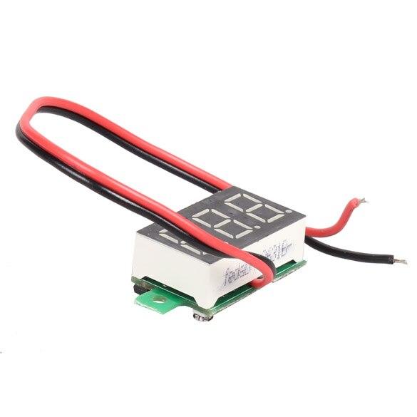 1 шт. 0,36 дюйма мини ЖК-дисплей Вольтметр Амперметр voltimetro amperimet Цифровой DC 2,5-30 в Красный СВЕТОДИОДНЫЙ Мини цифровой вольтметр Амперметр