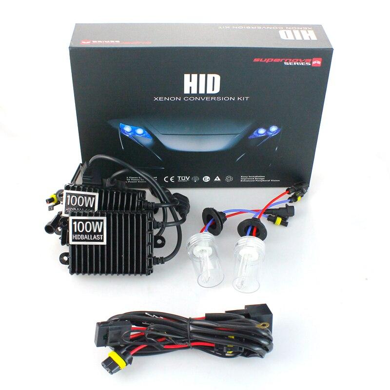 Xenon H1 Hid Kit 75W 100W H7 H3 H4 xenon H7 H8 H10 H11 H27 HB3 HB4 H13 9005 9006 Car light source xenon цена