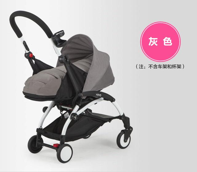 Cesta de dormir para carrinho de bebê carrinho de criança carrinho de carro portátil dobrável guarda-chuva pode se sentar e deitar