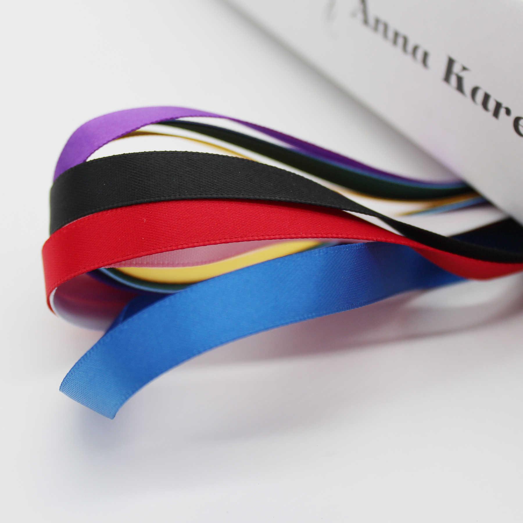 9 ミリメートル 3/8 インチサテンリボンポリエステル 100% 生地テープ環境にやさしい両面ネクタイ Diy の髪の弓工芸装飾アクセサリー