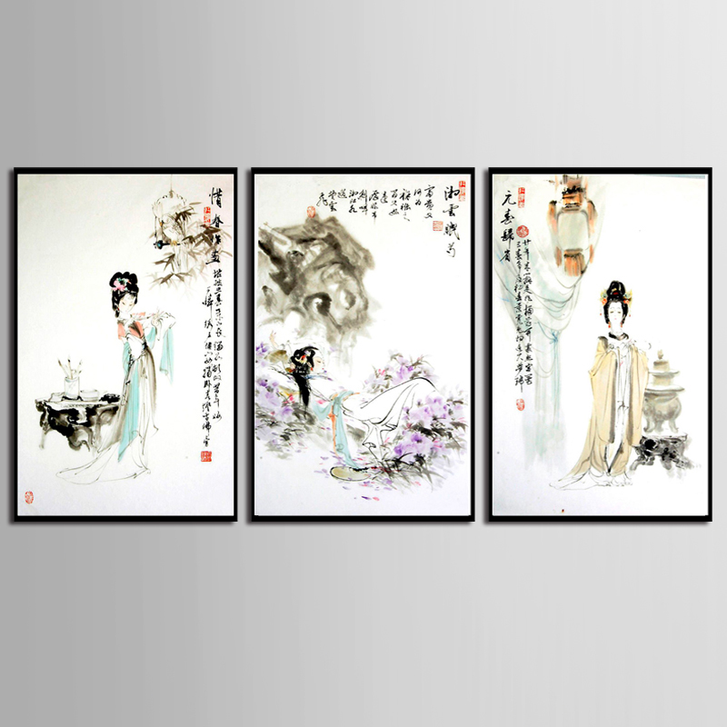 TOP SALE 3 Pc Canvas Painting Wall Art Pictures prints colorful woman on canvas home decor poster (No Framed)/9-ZHTK