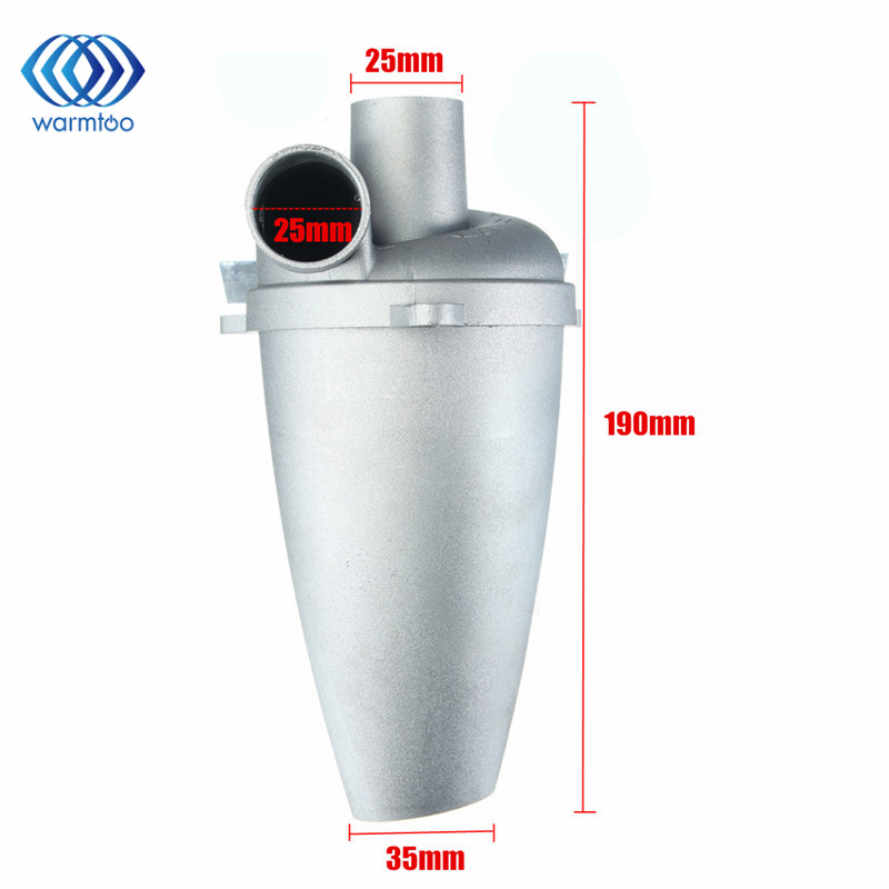 Industrial Aluminium Alloy Cyclone Dust Collector Filter Separator Collector Vacuums Cleaner Filter SN25T5 Duct Collector 1pc industrial cyclone filter dust collector cnc machining woodworking tool parts for vacuums dust extractor separator mayitr