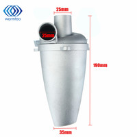 Industrial Aluminium Alloy Cyclone Dust Collector Filter Separator Collector Vacuums Cleaner Filter SN25T5 Duct Collector