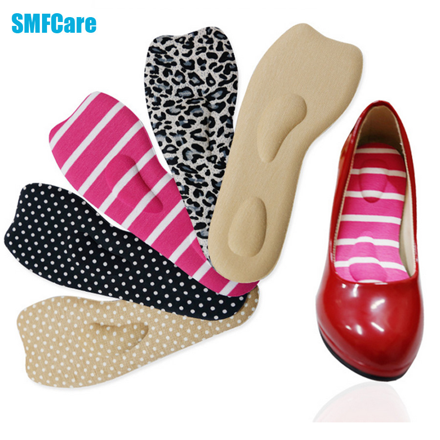 4Pcs High-heeled Shoes Foot Sponge Insoles Cushion Pad Orthotic Insole Half Yard Pad Toe Support Forefoot Pad Care Tool D0161