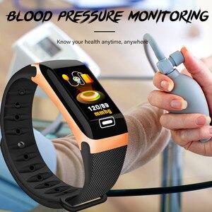Image 5 - LIGE سوار ذكي رصد الصحة معدل ضربات القلب/ضغط الدم/مقاوم للماء عداد الخطى للرجال والنساء ساعات سوار رياضي