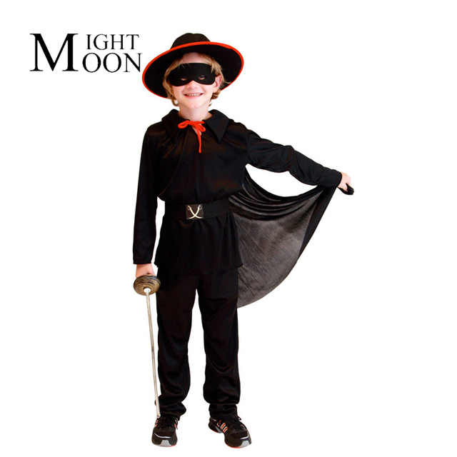 Moonight halloween per bambini gioco costume cosplay bambini zorro