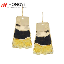 цены на Free Shipping Min Order $10 (Mix Order) 2014 New Women Colorful Enameling Gold/Silver/Black Gun Plated Drop Earrings Jewelry  в интернет-магазинах