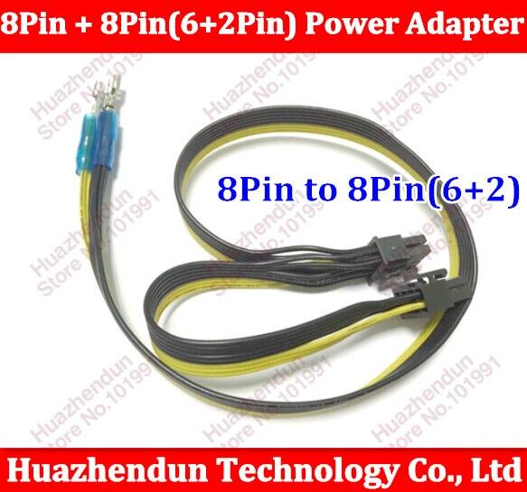 bilder für 10 stücke Hohe Qualität PCI-E 8Pin + 8-pin (6 + 2Pin) Netzteil Kabel für Server 50 cm + 10 cm