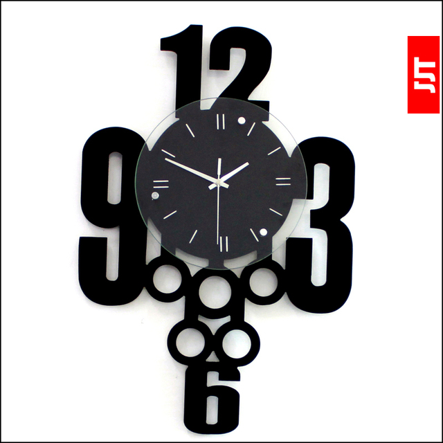Luminousness Fashion Personality living Room Wall Clock Modern brief Large Silent Watch Clock