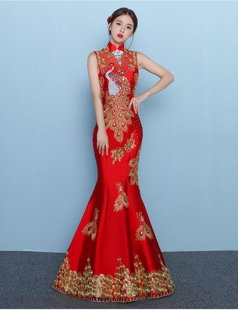 cheongsam dress mermaid traditional chinese dress designs chinese ...
