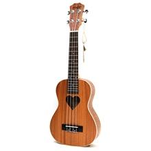 21 inch Soprano Ukulele 4 Strings uke Sapele love guitaacoustic ukelele small guitar professional uke Concert