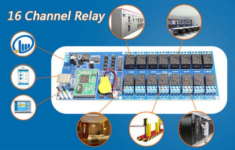 Industrial 16 channel break controller,Smart Switch Relay,16 CH Output TCP/IP In