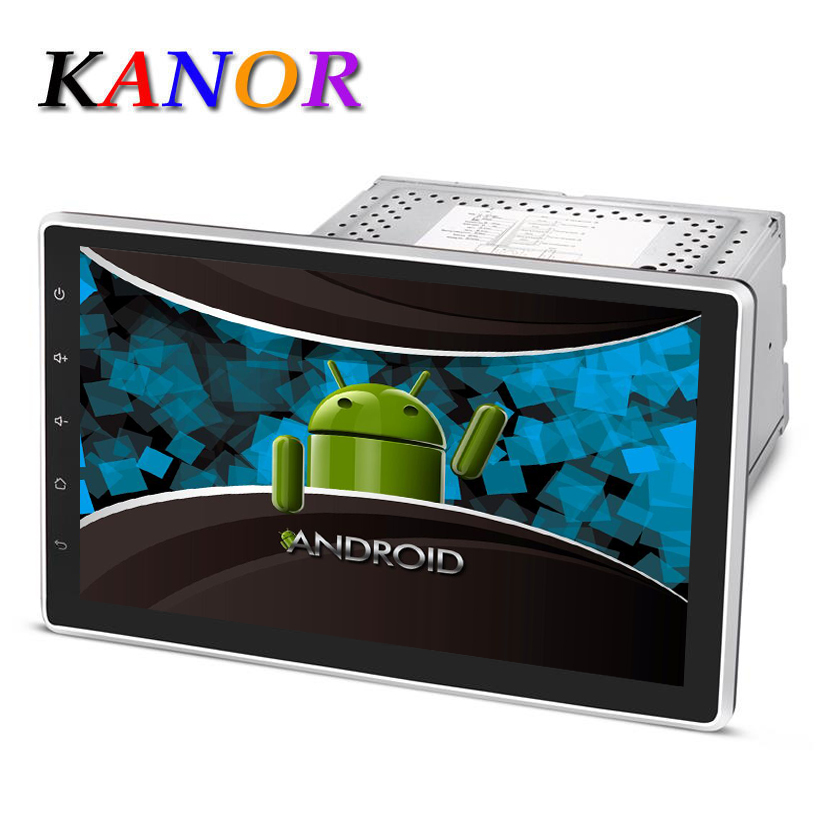 Kanor Android 5.1 1024*600 Quad Core 10.1 inch Double 2DIN Car GPS DVD Player Bluetooth Stereo Sat Nav RDS USB WIFI Multimedia автомобильный dvd плеер joyous kd 7 800 480 2 din 4 4 gps navi toyota rav4 4 4 dvd dual core rds wifi 3g
