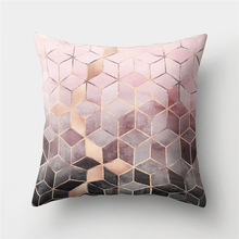 Throw Pillow Cases Cushion-Case-Textile Peach-Skin Living-Room 45x45cm Geometric-Printed
