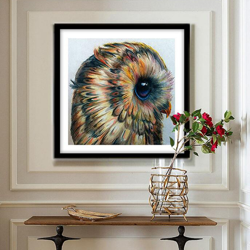 Patterns Cross-stitch Logical Picture Color New 5d Diamond Painting Bird Living Room Bedroom Owl Cross Stitch Brick Stone Stick Drill Factory Direct Selling Price