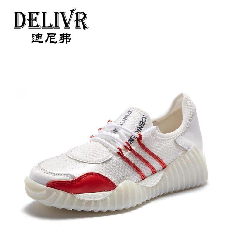 Delivr 2019 course à pied femmes chaussures Sneakers femmes chaussures décontractées femmes mode Tenis Feminino femme plate-forme chaussures vulcanisées