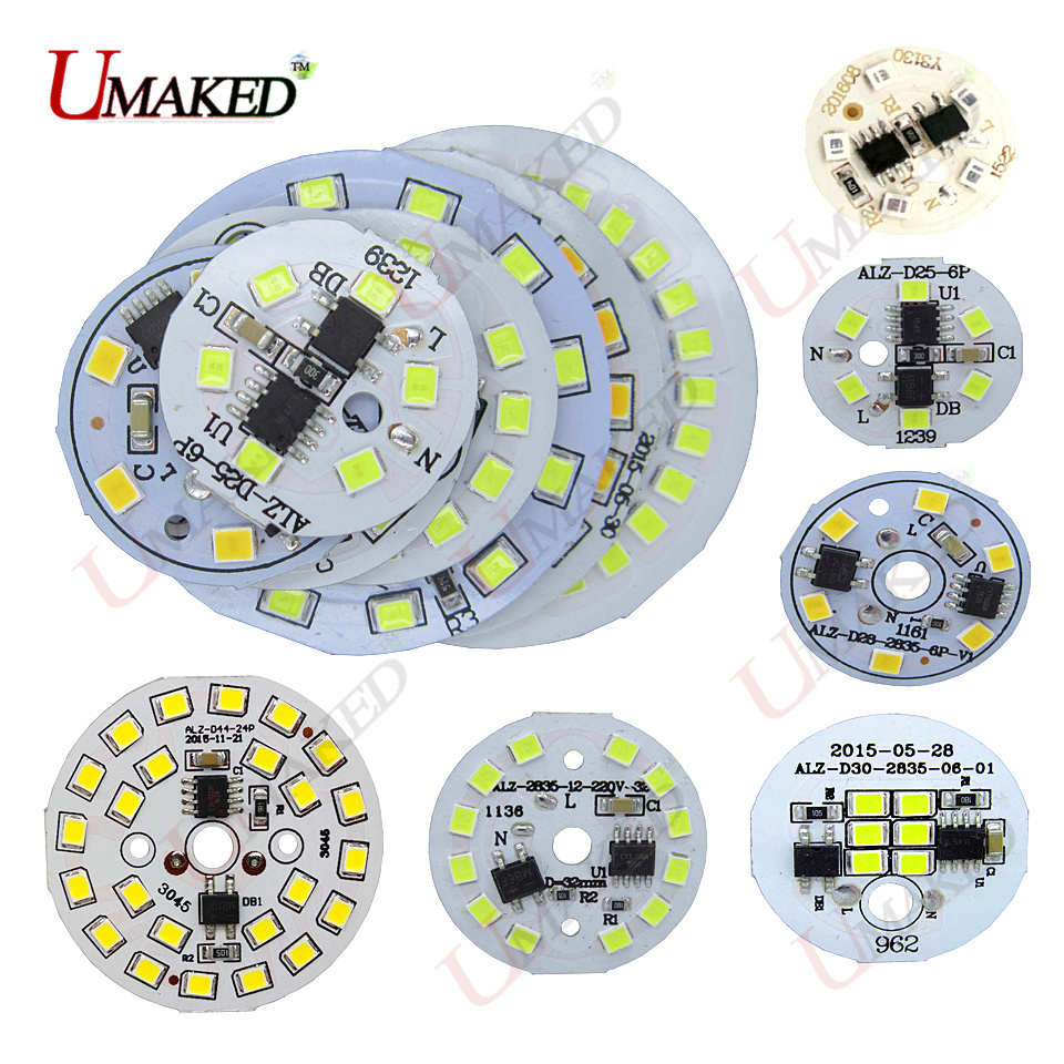 Led Beads Smart Ic Smd 100% Quality 10pcs Ac 220v Led Pcb Smd2835 5w 7w 9w 12w Integrated Ic Driver Led Light Source For Downlight