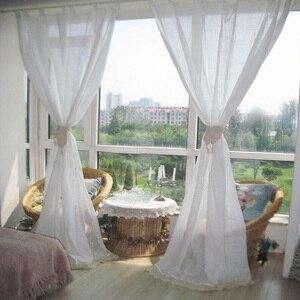 Image 2 - ZHH 完成カーテンユーロ牧歌的な編み中空寝室のカーテンシンプルなリビングルームのカーテン綿リネン窓カーテン装飾