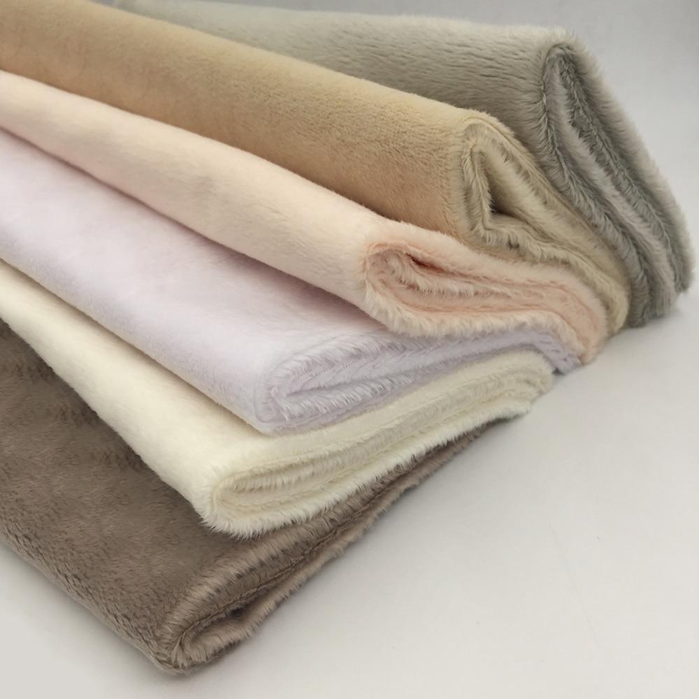 HTB1NPBuF9BYBeNjy0Feq6znmFXaK ZYFMPTEX 45x50cm Pile Length 3mm Soft Short Plush Handwork DIY Doll Winter Clothes Thickness Antipilling Plush Fabric 40 colors