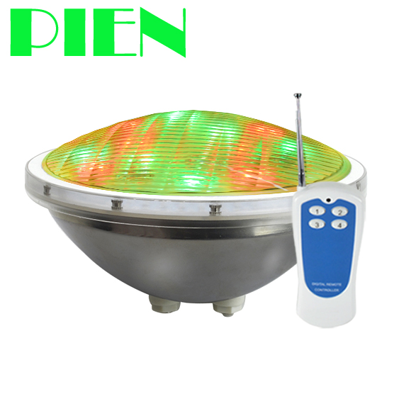 Par 56 RGB LED Pool light Stainless steel Piscina underwater lamp 24W 35W for Fountain Pond Swimming pools with Remote AC 12V rgb 300mm 513 led swimming pool light 316l stainless 12v resin filled 18 24 35w swimming pool pond led light lamp