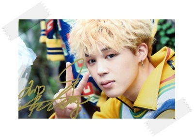 signed BTS JIMIN autographed  photo LOVE YOURSELF  4*6 inches  freeshipping 102017