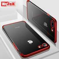 WeiFaJK etui na luksusowe etui na telefony dla iPhone 8 7 6 6 s Plus silikonowe wyczyść miękkie Coque TPU tylna pokrywa etui na iPhone'a 7 X XR XS Max