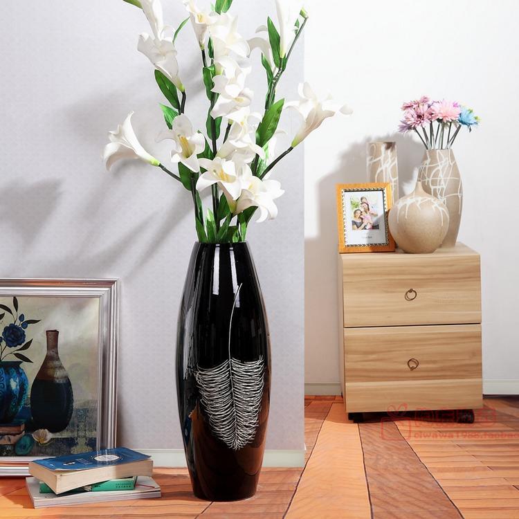Online Shop Modern European Style Living Room Of Jingdezhen Ceramic Vase  Fuguizhu Landing Large Vase Ornaments