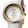 Chica reloj Disney marca Mickey ratón chicas relojes impermeable cuero cuarzo relojes mujer Relojes relogio diamante