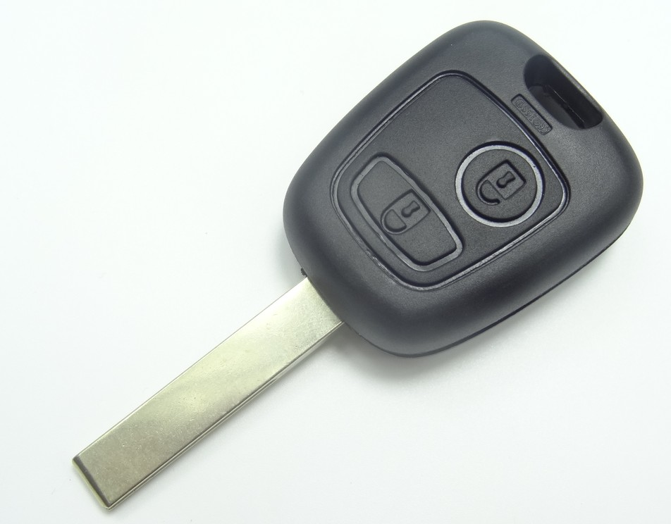 AUTEWODE Remote Key Case Shell fit for <font><b>PEUGEOT</b></font> CAR KEY 2 BUTTONS 407 BLADE Key Shell cover blank Fob <font><b>20PCS</b></font> image