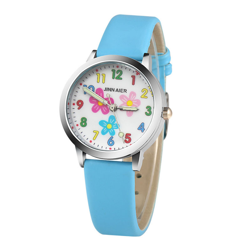 Children Watch Quartz Sports Relojes Mujer Boys Girls Fashion Kids Cartoon Pink Flower Children Watch Relogio Feminino