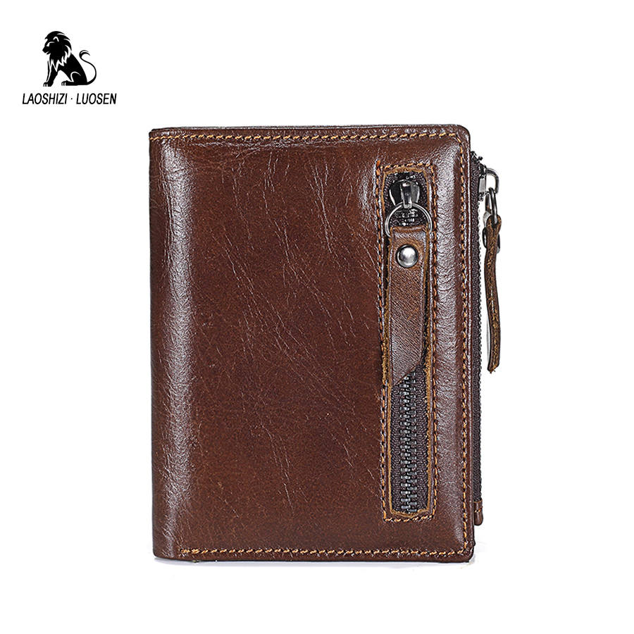 Genuine Leather Men Wallets Short Coin Purse Small Wallet Cow Leather Purse Vintage Coin Pocket Card Holder Small Wallet Male men wallet male cowhide genuine leather purse money clutch card holder coin short crazy horse photo fashion 2017 male wallets